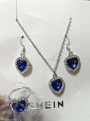 Earrings, Necklace, and Ring Jewelry Set for Sale in Bismarck, ND