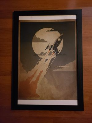 """Framed vector space ship 24"""" x 36"""" for Sale in Seattle, WA"""