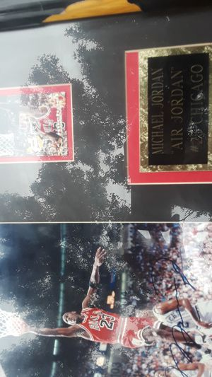 An autographed Michael Jordan picture and frame for Sale in Modesto, CA
