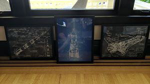 Apollo Vehicle Schematic Paintings - Black Wood Frames for Sale in Seattle, WA