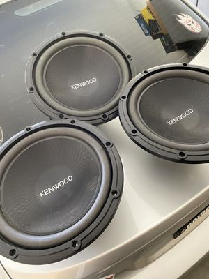 "3 kenwood subwoofers 12"" for Sale in Tolleson, AZ"