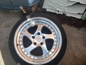 Just One 18in esr rim with new tire for Sale in MONTGOMRY VLG, MD