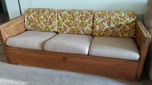 Wood based couch for Sale in Charlottesville, VA