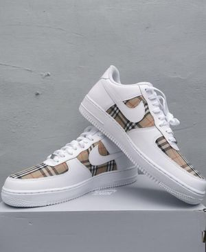 CUSTOM BURBERRY NIKE AIR FORCE 1 (AF1) for Sale in Daly City, CA