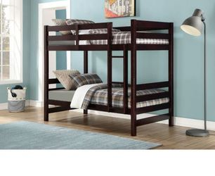 Bunk Bed (Twin/Twin) - 37785 - White/brown for Sale in Pomona,  CA