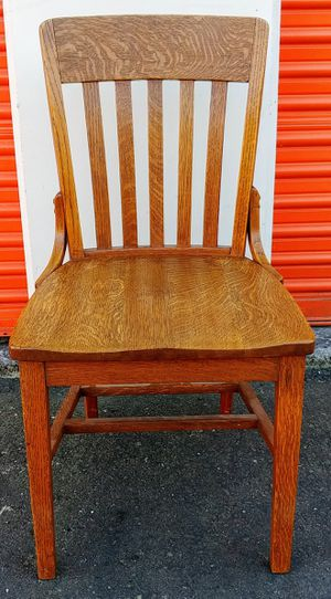 Antique Solid Oak Desk Chair for Sale in Bellevue, WA