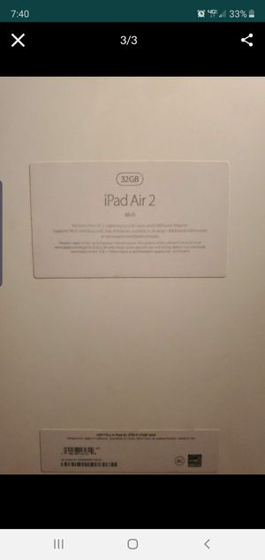 APPLE IPAD AIR 2 for Sale in Tampa, FL
