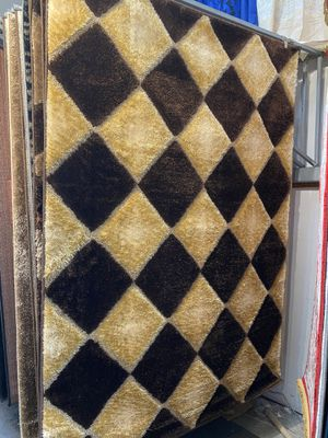 5x8 brown beige modern shaggy rug soft brand new shaggy carpet for Sale in Los Angeles, CA