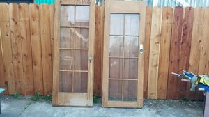 2 Doors with glass for Sale in Oakland, CA