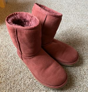 Women's Size 7 Authentic Ugg Boots, Burgundy for Sale in McKees Rocks, PA