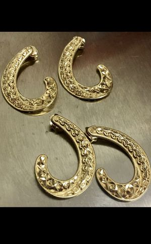 REAL 14K Yellow Gold Hypoallergenic J Hoop Earrings for Sale in Yucca Valley, CA