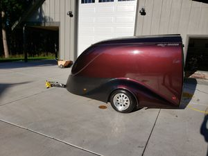Excalibur fiberglass enclosed motorcycle trailer for Sale in Tacoma, WA