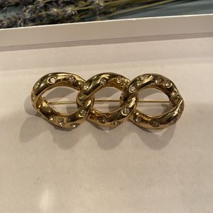Vintage Cross Link Brooch (not Signed But Looks Like By Dior) for Sale in Vienna, VA