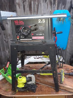 CRAFTSMAN 10in table saw on metal stand for Sale in Garland, TX
