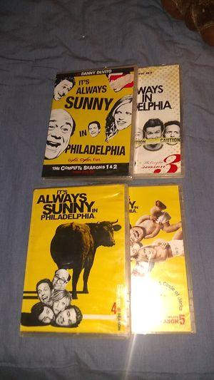 Its Always Sunny in Philadelphia DVDs seasons 1-5 for Sale in Beaver Dam, WI