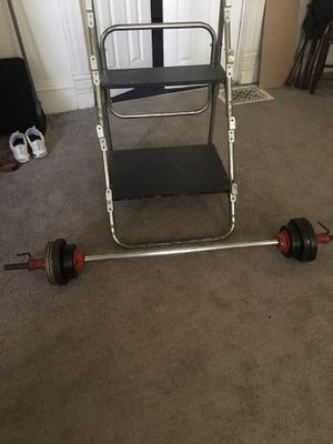 Weight bar and holder for Sale in Cleveland, OH