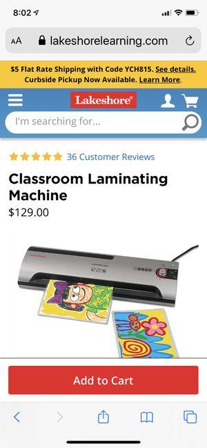 Lakeshore Laminating Machine for Sale in Phoenix, AZ
