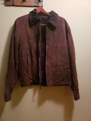 Di Bello Collezione Made in Italy Mens Shearling Coat Brown Size 52 MRSP $1795 for Sale in Ashton-Sandy Spring, MD