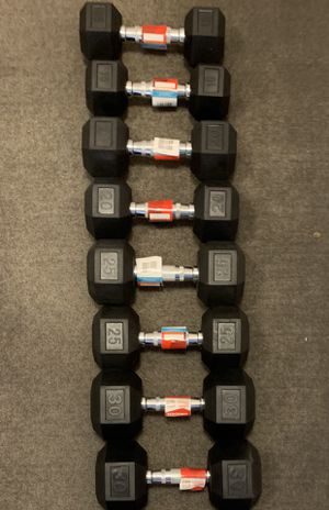 4 Sets of Rubber Hex Dumbbells (15, 20, 25, 30 LBS) - BRAND NEW for Sale in Arlington, VA
