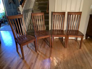 Solid Wood Dining Room Chairs Set of Four for Sale in Redmond, WA