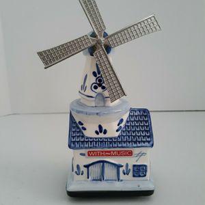 Elesva Holland Musical Windmill Blue & White Figurine for Sale in West Palm Beach, FL