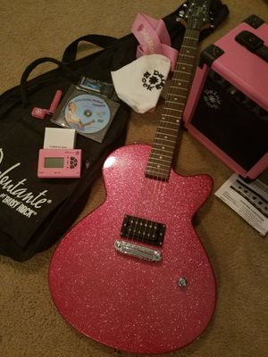 New Girls guitar, gig bag, accessories and amp for Sale in Cumming, GA