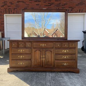 Twelve Drawer Dresser With Mirror for Sale in Lawrenceville, GA
