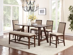 6 pcs Table Set Counter Height for Sale in Montebello, CA