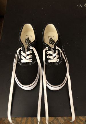 Vans black canvas size 2 boys for Sale in Las Vegas, NV