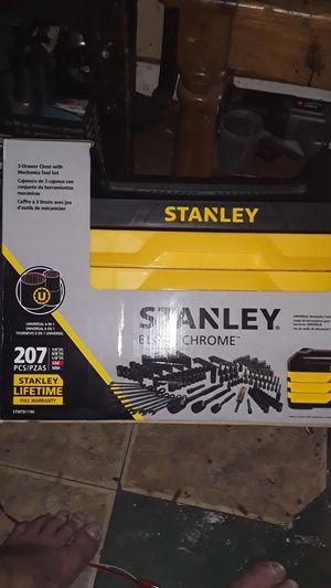 Stanley 207pcs black chrome for Sale in San Antonio, TX