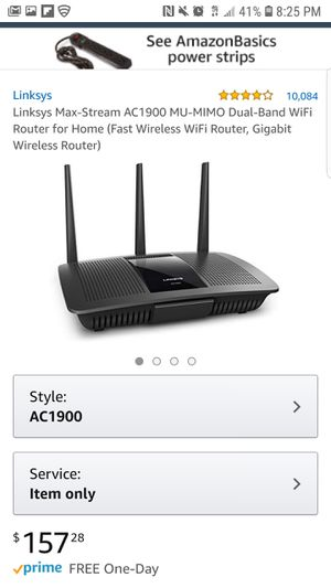 Linksys wifi router for Sale in Annandale, VA