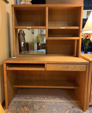 Solid Oak High Quality Desk w Hutch Storage for Sale in Lehighton, PA