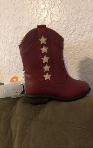 Toddler Girls Western Boots-Size 5, Red for Sale in Lake Worth, FL