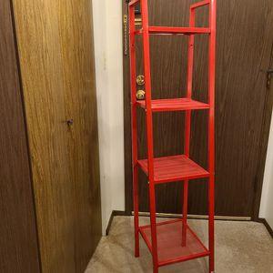 Ikea Red Metal Shelf for Sale in Seattle, WA