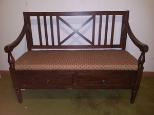 Antique Upholstered Accent Bench for Sale in Colquitt, GA