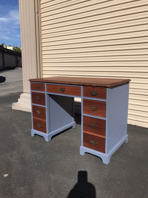 Refinished solid wood desk for Sale in National City, CA