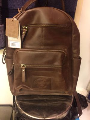 Rawlings genuine leather medium brown backpack for Sale in Overland, MO