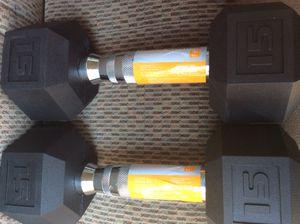 New 15lb Dumbbell Set for Sale in Douglasville, GA