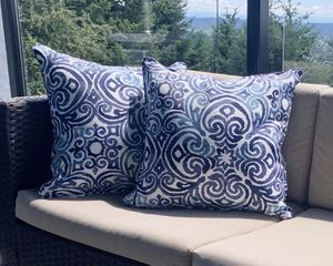 New blue outdoor patio throw pillows for Sale in Hillsboro, OR