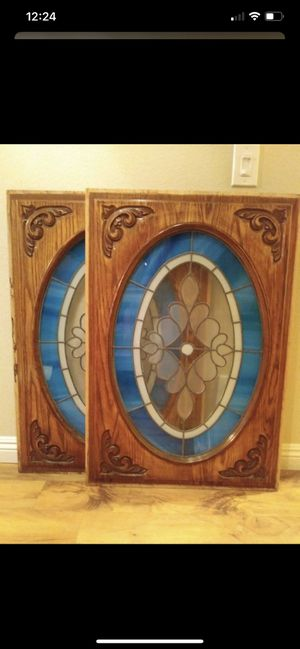 Two antique and decorative stained glass panels for Sale in Laguna Beach, CA