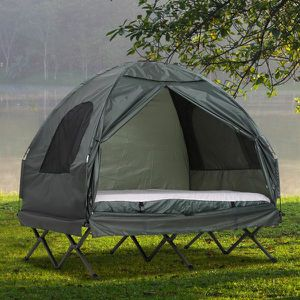 BRAND NEW !!! Extra Large Compact Pop Up Portable Folding Outdoor Elevated All in One Camping Cot Tent Combo Set for Sale in Buena Park, CA