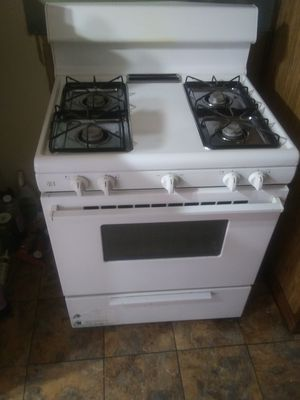 Gas stove, Refrigerator, Bedroom Furniture, Matching end tables and coffee table real wood for Sale in Indianola, MS