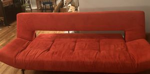 Red Suede Futon in Impeccable Condition for Sale in Kensington, MD