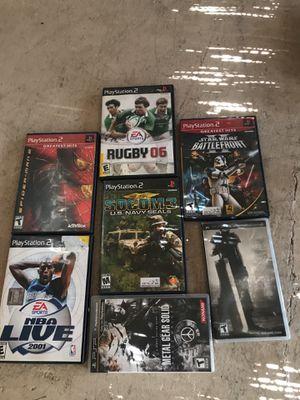 PlayStation 2 psp games bundle $10 for Sale in Santa Monica, CA
