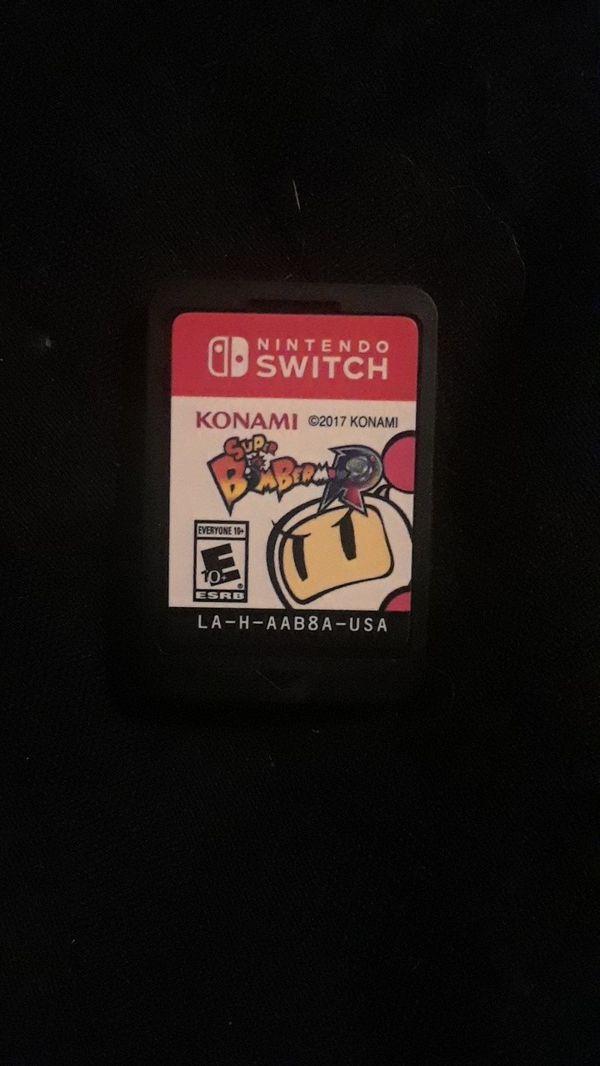 Nintendo Switch game bundle!!! Mario Bros. Deluxe, Spongebob BFBB, & Bomberman R