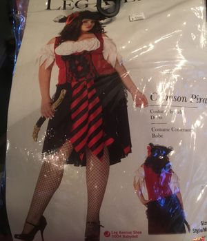 Women's Halloween pirate costume plus size for Sale in Grapevine, TX