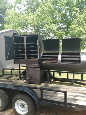 BBQ Smoker on 16 ft trailer for Sale in Coffee City, TX