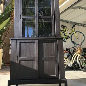 Black IKEA China Cabinet for Sale in San Diego, CA