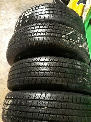 4 used. TRAILER tires. St205/75/14 6ply for Sale in San Antonio, TX