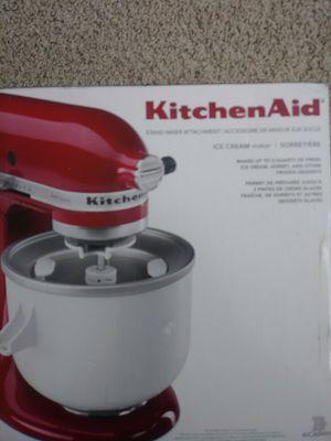 Kitchen Aid, Ice Cream Maker Attatchment for Sale in Rexburg, ID